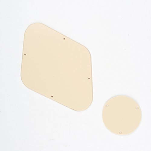(Musiclily Pickguard Backplate Cavity and Switch Cover Set for Gibson Les Paul Guitar,1Ply Cream)