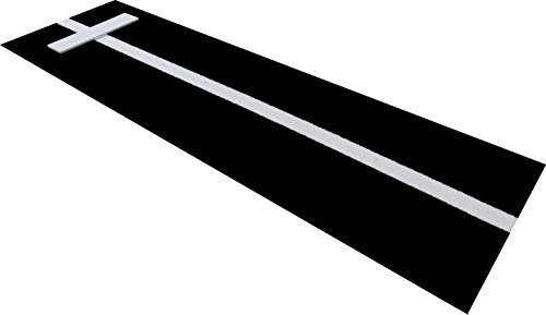 PBBK36120 3' x 10' Black Softball Pitchers Pitching Mound Mat With Power Line By All Turf Mats Mark Your Stride Length and Location With Chaulk (Not Included) Softball Pitchers Mat