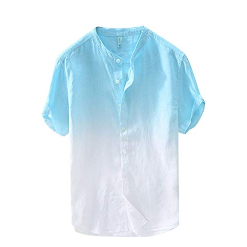 MIS1950s Men's Polo Shirt Cool Quick-Dry Sweat-Wicking Color Block Short Sleeve Sports Golf Tennis Gradient T-Shirt for Men