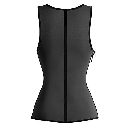 Neoprene Ultra Latex Corset Top Sweat Vest Sauna Hot Body Shaper Women's Slimming Waist Trainer Tummy Control Slim Shapwear Black XXL