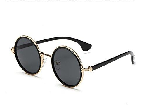 Unisex Classic Color Retro Round Gafas de Sol polarizadas 2 Metal Glasses Sun 8 Frame Yxsd fFwxq