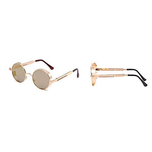 Gafas Marco Nuevas Protección Gafas Y Sol De Gafas 2018 Punk Brown Unisex De Vintage De Hombres Antideslumbrante Sol Conducción Deportivas Sol Pin Gafas Para Mujeres Redondo De Pesca UV Clásicas Metal ztxqz4a