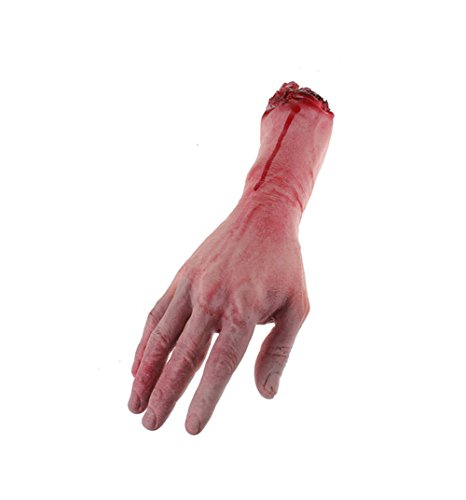 Vivian Horror Bloody Realistic Prosthetic Fake Human Body Parts Creepy Severed Arm Broken Hand Trick Scary Halloween Decoration Props -