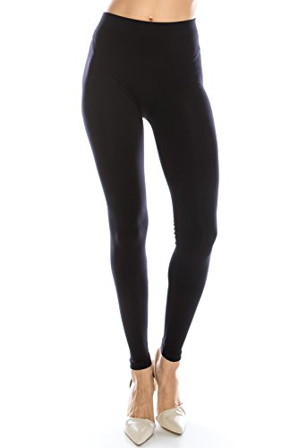 124c880798b EttelLut Nylon Spandex Basic Sexy Yoga Tight Knit Leggings for Women and  Juniors Black S   Leggings   Clothing