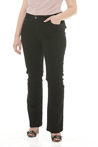 - Suko Jeans Womens Power Stretch Boot Cut Jeans 17324 Black 14