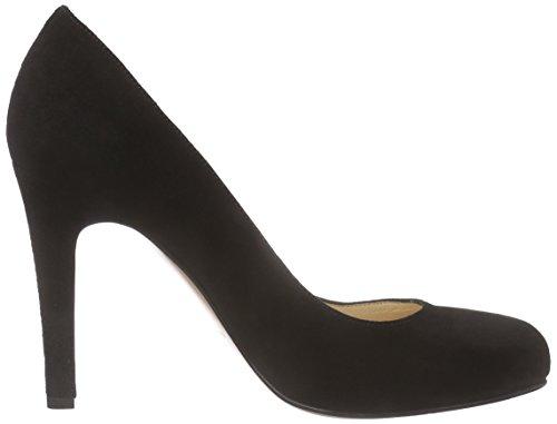 Tacón Negro Punta Pump Zapatos con Shoes Schwarz Evita para Cerrada 10 de Mujer TwOIgBAxq