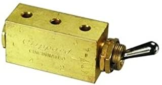 product image for Clippard MTV-4 4-Way Toggle Valve, Enp Steel Toggle, 10-32