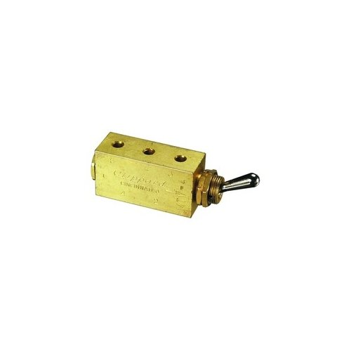 Clippard MTV-4 4-Way Toggle Valve, Enp Steel Toggle, 10-32 by clippard