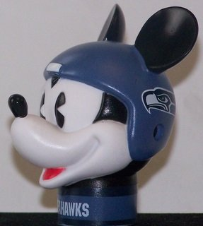 NFL 2 Seattle Seahawks Mickey Mouse Antenna Toppers *SALE* Wincraft