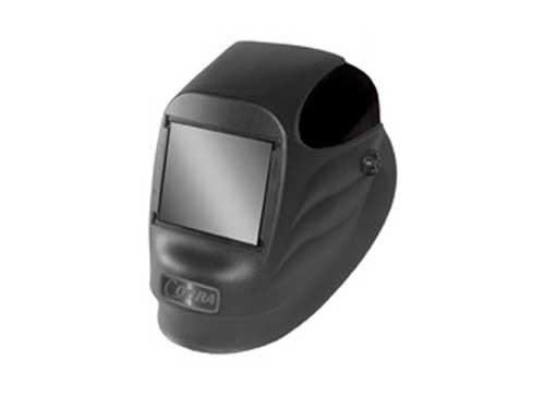 "Radnor 64005110 24P Fixed Front Welding Helmet with 2"" x 4 1/4"" Shade 10 Passive Lens, Black"