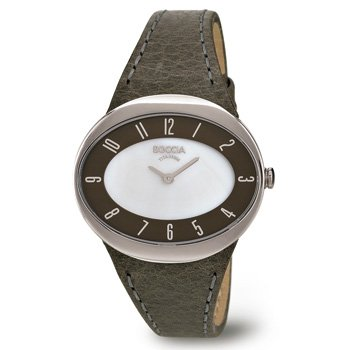 3165-15 Ladies Boccia Titanium Watch, Oval face