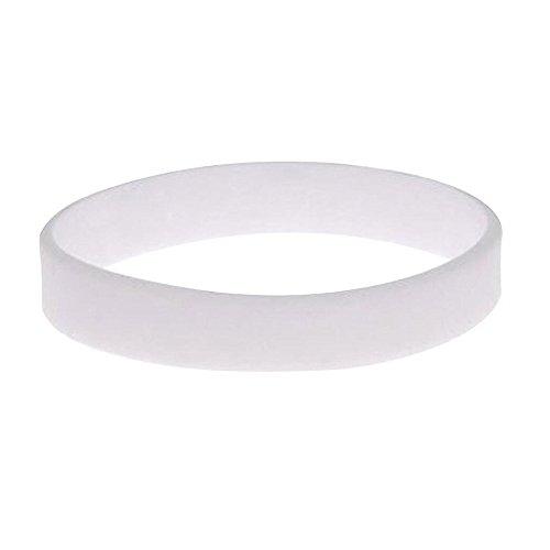 100pcs/set Plain Silicone Wristbands Blank Rubber Bracelets for Adult White