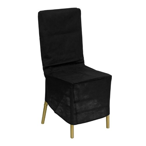 amazoncom flash furniture le cover gg black fabric chiavari chair storage cover black kitchen dining black furniture covers