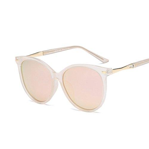 Visera Driver Sol UV Anti Aire Redondo de Color Decoración Al Espejo C3 Light Fashion Marco Libre C2 Personalidad Gafas Vintage Polarized qSX5x66T