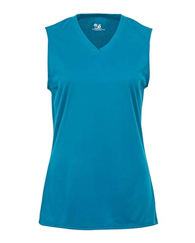 Electric Blue Ladies XL B-Core Ladies Performance Sports Sleeveless Wicking Jersey/Shirt