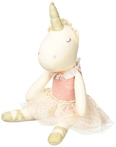 (Mud Pie Linen Unicorn Vintage Inspired Child's Plush Toy, Pink)