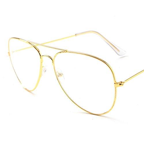 Aviator Eyeglasses Blue Blocker Glasses Pilot style, Anti Eye Strain By V&V by Unknown