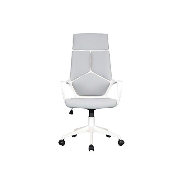 31rFMouK2uL Color: Gris / Blanco Asiento regulable sin niveles fijos Asiento y respaldo de tela