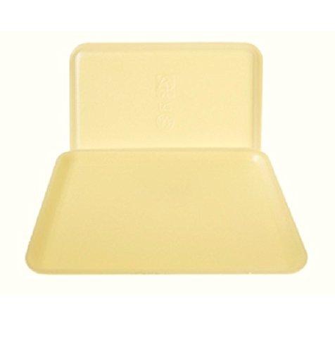Yellow Foam Meat Tray - CKF 12SY, 12S Yellow Foam Meat Trays, Disposable Standard Supermarket Meat Poultry Frozen Food Trays, 100-Piece Bundle