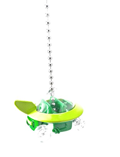 Hot Wheels Diecast The Jetsons Capsule Car Ceiling Light Fan Pull, Christmas Ornament, (Jetsons Capsule Car - Green)