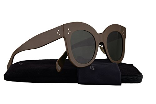 Celine CL41443/S Sunglasses Khaki Brown w/Green Lens 50mm RYV07 CL41443S CL - 2016 Celine Eyeglasses