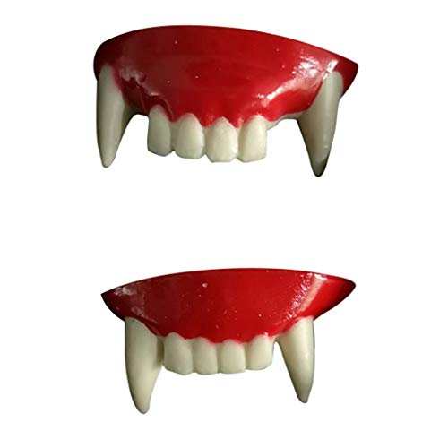 Unionm Halloween Toys, Halloween Props, 2pc Prank Vampire Teeth Zombie Front Teeth Plastic Soft Tooth Braces DIY Decoration Toys Ghost's Day Haunted House Decoration for Party Bar ()