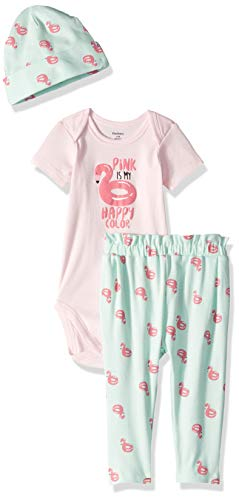 06e94560cf838 Gerber Baby Girls' 3-Piece Bodysuit, Pant and Cap Set | Weshop Vietnam
