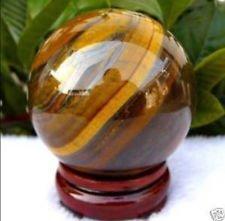 Tiger Eye Quartz Crystal Sphere - AA 40mm Natural Tiger's Eye quartz crystal sphere ball