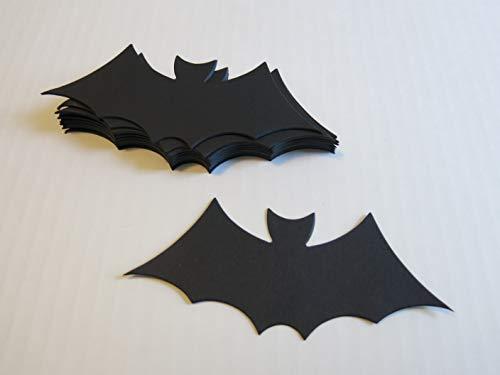 12 Black Bats Halloween Table Scatter Confetti, 5