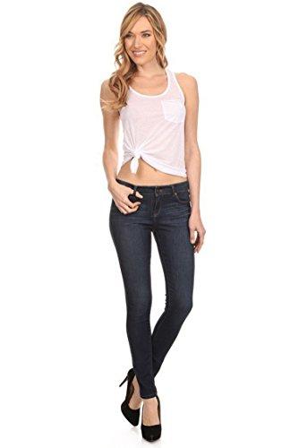 tchy Slim Fit Low Rise Skinny Jeans Dark Denim Blue 13 ()