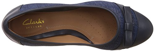 CLARKS Clarks Womens Shoes Denny Fete Navy