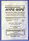 9103 PT# 9103- Towelette Disinfectant Bleach Hypewipe Standard 6x12'' 100/Bx by, Current Technologies Inc