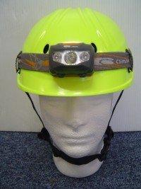 Climax – Profesionales de trabajo en altura casco de seguridad amarillo con cabeza lámpara en12492