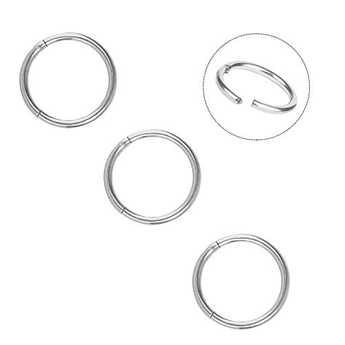 Nose Ring Hoop 316L Surgical Steel 18G(1mm) Cartilage Ring Body Piercing Jewelry for Men Women 3 pcs