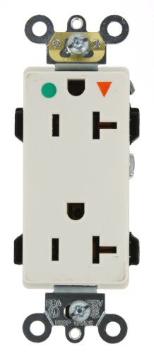 Isolated Ground Outlet (Leviton 16362-IGW 20-Amp, 125-Volt, Decora Plus Duplex Receptacle, Straight Blade, Hospital Grade, Isolated Ground, White)