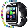 Smart Watch with Camera - Bluetooth Smartwatch with Sim Card Slot Fitness Activity Tracker - Sport Watch for Android Smartphones (Black)
