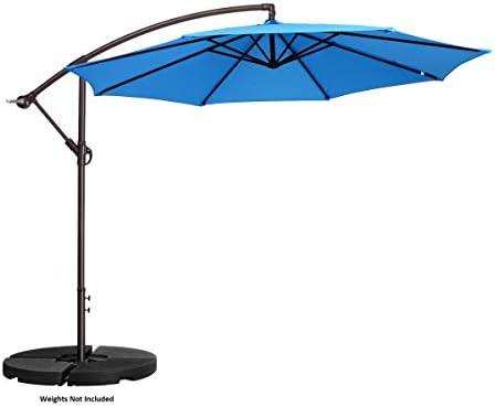 VILLACERA 83-OUT5411 10' Offset Outdoor Patio Umbrella