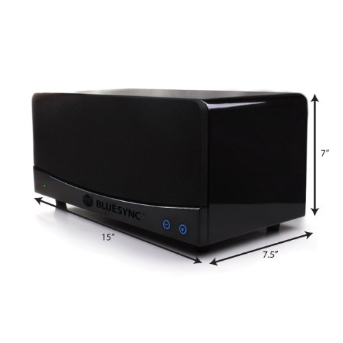 GOgroove BlueSYNC Wireless Bookshelf Speaker And Bluetooth Home Entertainment System With 21 Channel Stereo Enhanced