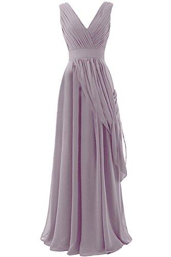 sunvary a-line Draped de cuello largo gasa vestidos de fiesta Homecoming Fiesta rosa claro