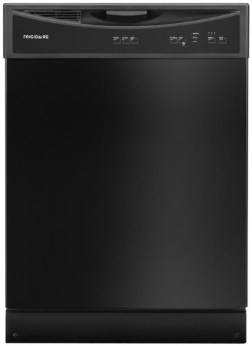 Frigidaire FFBD2406NB 24″ Full Console Built In Dishwasher with 14 Place Settings 3 Wash Cycles 60 dBA SpaceWise Delay Start Soft Food Disposer Energy Star Certified in