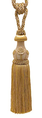 Decorative Gold Curtain & Drapery Tassel Tieback /12