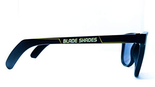 Original Blade Shades Hockey Stick Sport Sunglasses UV Protective (Yellow/Black, Yellow Mirror)