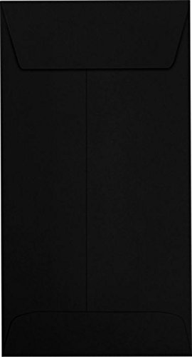 #7 Coin Envelopes (3 1/2 x 6 1/2) - Midnight Black (50 Qty.) | Perfect for storing Small Parts, Coins, Jewelry, Stamps, Seeds, Small Electronic Parts and so much more! | 7CO-B-50 ()