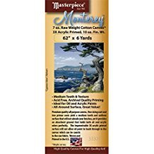 Masterpiece - Monterey Acrylic Primed Cotton Canvas Roll - 62'' x 6 yds. by Masterpiece