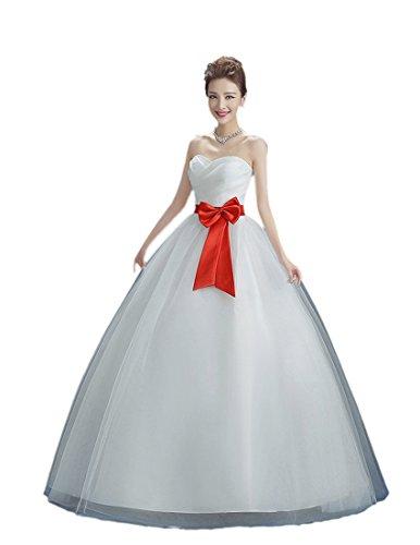 何でも口述文房具格安のドレス aライン エンパイアにロングリボン美しい上質な ウェディングドレス エンパイア ドレスですウェディングドレス エンパイアライン 結婚式や二次会ロングリボンのドレス 海外挙 式に