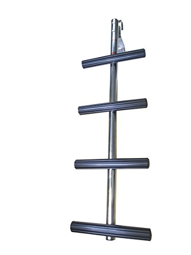 Pactrade Marine Boat 4 Steps Transom Sport Dive Ladder SS 304 Non Slip Thread w/Bracket (Ladder Bracket Dive)