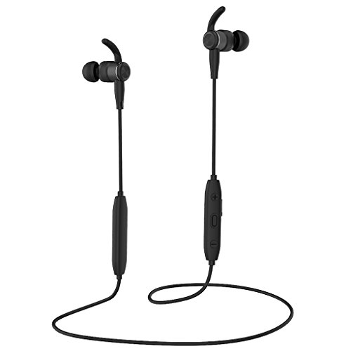 Earphones with Microphone, in-Ear Earbuds V4.1 Magnetic Headphones Noise Cancelling Earphone Sport Headset (6-8Hours Play Time, Secure Fit Design)