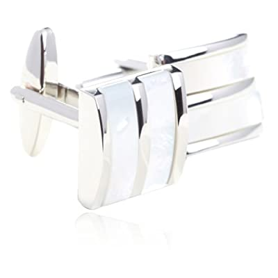 Digabi Fashion Rare Mother of Pearl Cufflinks for Men Shirts Gift Boxed