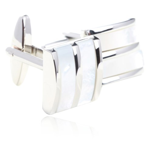 Cufflinks Of Pearl Mother White - Digabi Fashion Rare Mother of Pearl Cufflinks for Men Shirts Gift Boxed
