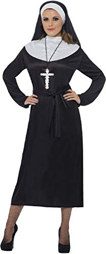 Ladies Classic Catholic Nun Religious Church Bible Festival Carnival Fancy Dress Costume Outfit (UK 16-18) -